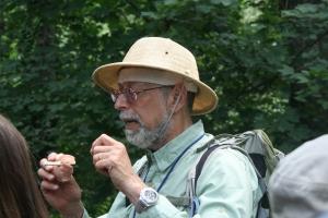 Steve Brill with fawn mushroom