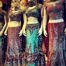 Sari shopping in Jackson Heights